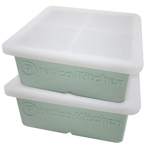 Praticube Large Ice Cube Mold - 4 Large 2.25...