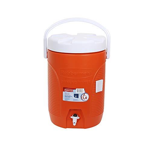 Rubbermaid 168301 11 3GAL ORG WTR Cooler, 3-Gallon, Orange