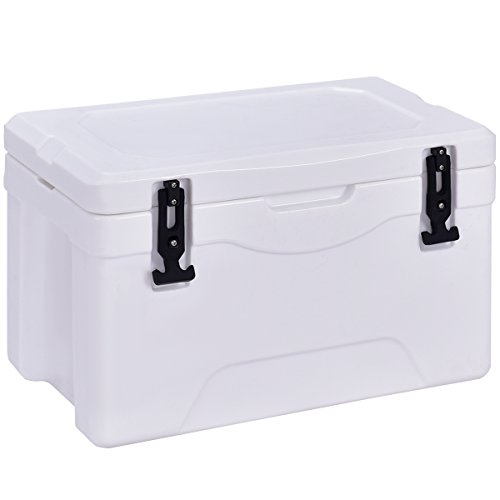 Giantex 32 Quart Heavy Duty Cooler Ice Chest Outdoor Insulated...