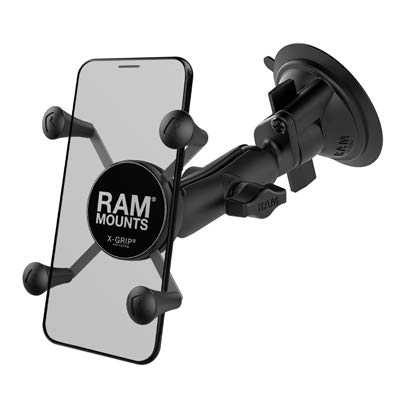 Ram Mount Twist Lock Suction Cup Mount with Universal X-Grip Cell...