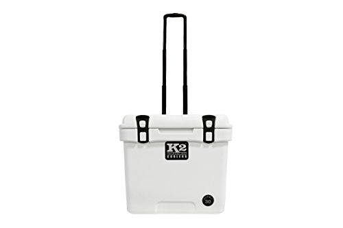 K2 Coolers Summit Wheeled 30 Cooler, Glacier White