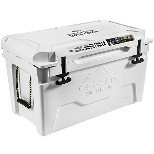 Cascade Mountain Tech 80-Quart Rotomolded Cooler with Basket, and...