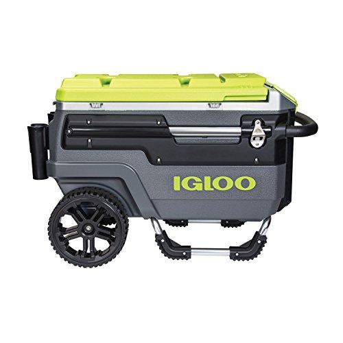 Igloo Trailmate Journey Cooler, Charcoal/Acid Green/Chrome, 70...