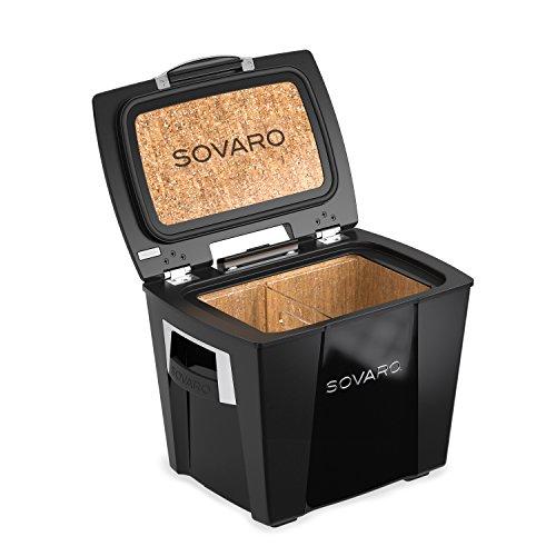 Sovaro Luxury Cooler, Black/Chrome, 30 Quart