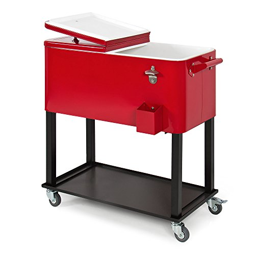 Best Choice Products 80-Quart Steel Rolling...