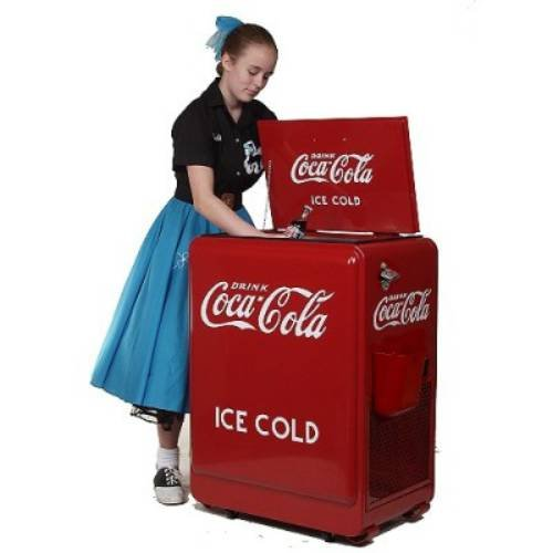 American Retro 80-Can Coca-Cola Refrigerated...