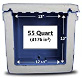 Blue Coolers Ice Vault – 55 Quart,...