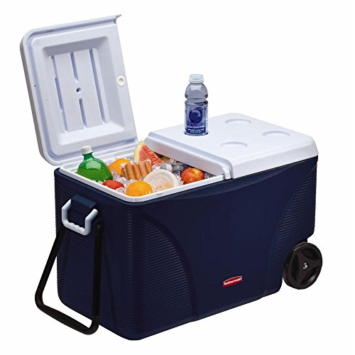 Rubbermaid DuraChill Wheeled 5-Day Cooler, 75 Quarts, Blue...