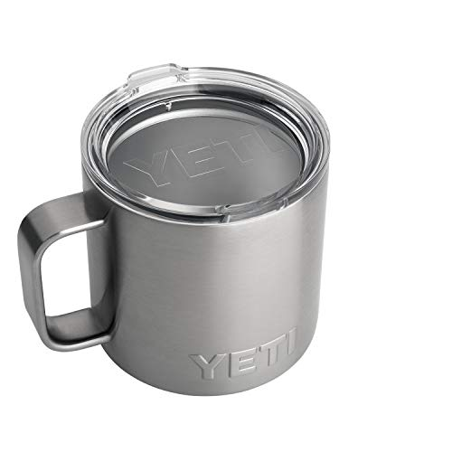 YETI Rambler 14 oz Stainless Steel Vacuum Insulated Mug with Lid,...