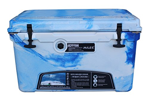 MILEE - Iceland Cooler with Divider, Basket and Cup holder, 45 QT...
