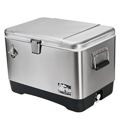 Igloo Stainless steel cooler (51L) # 44669, 54 quart, clear