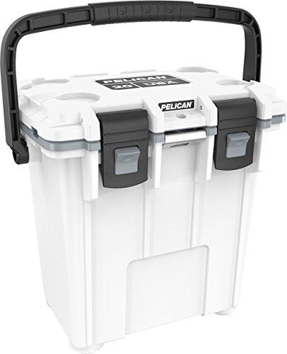 Pelican Elite 20 Quart Cooler (White/Gray)
