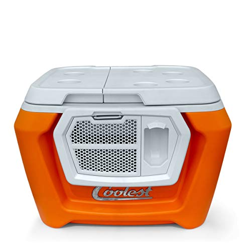Coolest Cooler (60 Quart, Classic Orange) Premium ice Chest with...