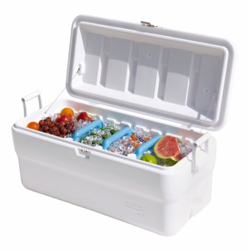 Rubbermaid Gott Marine Cooler / Ice Chest, 102-quart, White