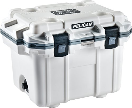 Pelican Elite 30 Quart Cooler (White/Gray)