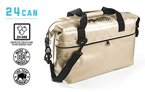 BISON COOLERS 24 Can Insulated Ice Chest Bag...