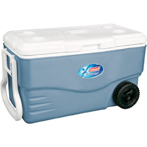 Coleman 100-Quart Xtreme 5-Day Heavy-Duty Cooler with Wheels,...