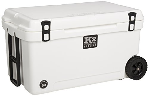 K2 Coolers Summit 60 Cooler with Wheels, White
