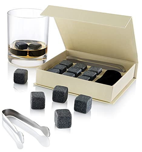 Set of 9 Grey Beverage Chilling Stones [Chill...