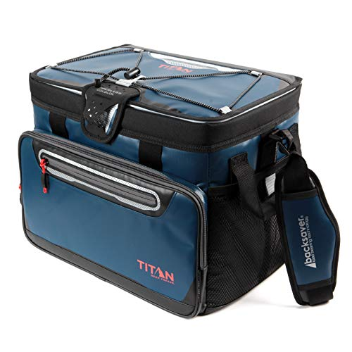 Arctic Zone Titan Deep Freeze 48 Can Zipperless Cooler, Blue