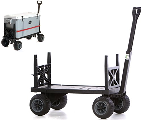 Cooler Cart Ice Chest Box Carrier Wagon with on Wheels Igloo Yeti...