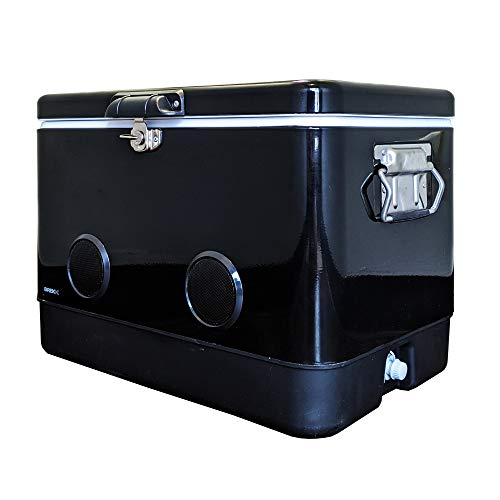 BREKX 54-Quart Double-Walled Black Party...