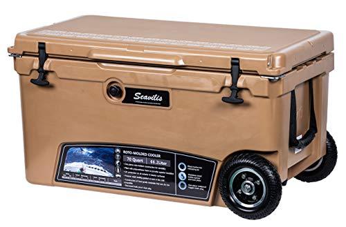 MILEE--Heavy Duty Wheeled Cooler 70QT Dark TAN ($50 Accessories...