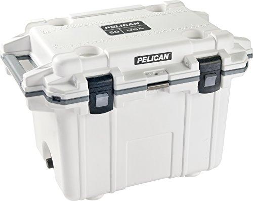 Pelican Elite 50 Quart Cooler (White/Grey)