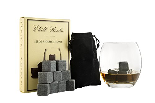 Set of 9 Grey Beverage Chilling Stones [Chill Rocks] Whiskey...