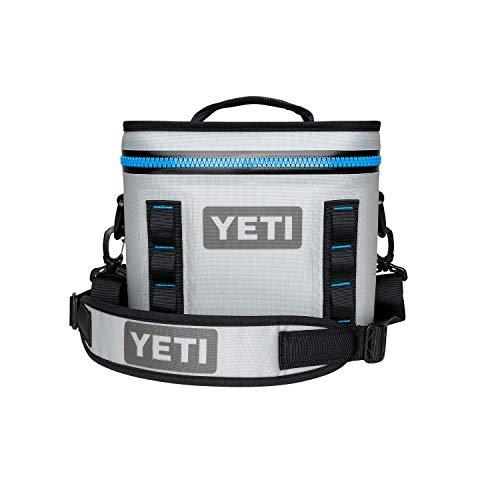 YETI Hopper Flip 8 Portable Cooler, Fog Gray/Tahoe Blue