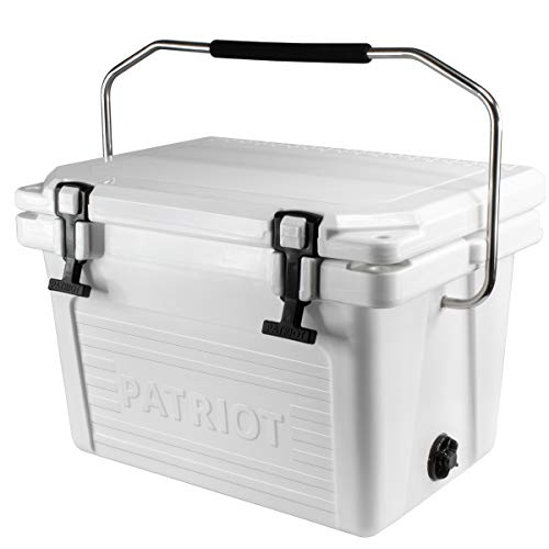 Patriot Heavy Duty 20QT Roto-Molded Cooler, with Steel Handle bar...