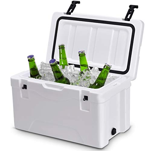 Giantex 40 Quart Heavy Duty Cooler Ice Chest Outdoor Insulated...