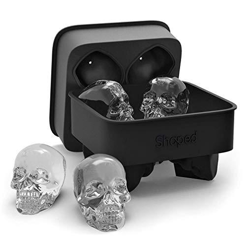 Shaped 3D Skull Ice Mold, Super Flexible...