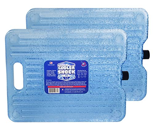 Cooler Shock Ice Packs For Coolers - Thin,...