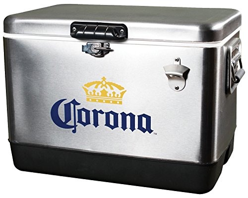 Corona CORIC-54 Stainless Steel Ice Chest by Koolatron (CORIC54)