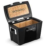 Sovaro Luxury Cooler, Black/Chrome, 45 Quart
