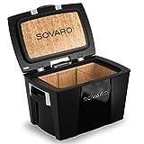 Sovaro Luxury Cooler, Black/Chrome, 70 Quart