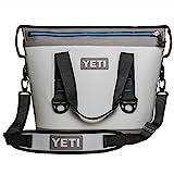 YETI Hopper Two 20, Portable Cooler, Fog Gray/Tahoe Blue