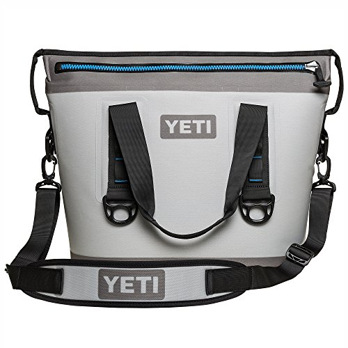 YETI Hopper Two 20, Portable Cooler, Fog Gray/Tahoe Blue