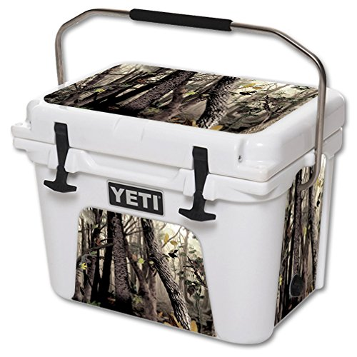 MightySkins Skin for YETI 20 qt Cooler - Tree Camo | Protective,...