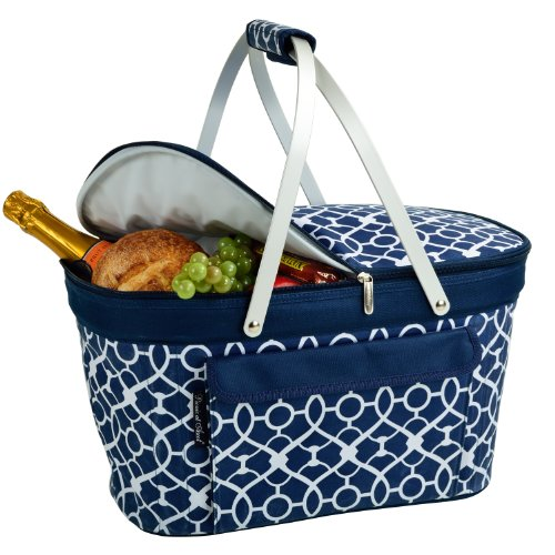 Picnic at Ascot Patented Insulated Folding Picnic Basket Cooler-...