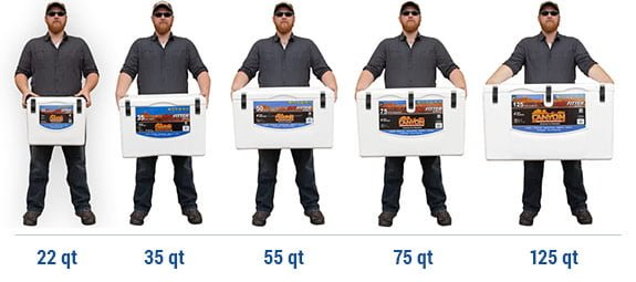 Canyon Outfitter Cooler sizes