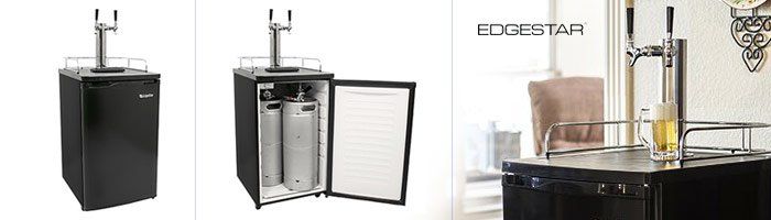 EdgeStar Best Dual Tap Kegerator Draft Beer Dispenser