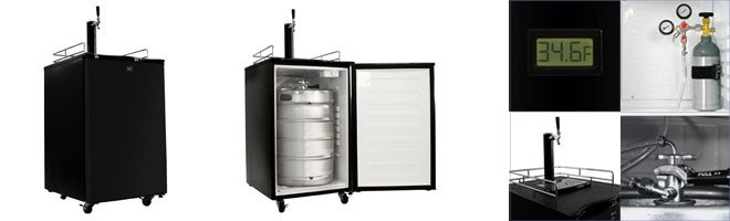 KeggerMeister KM2800BK Kegerator Beer Keg Fridge cooler