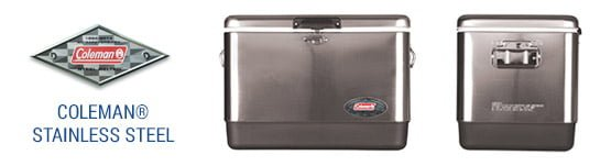 54 quart coleman stainless steel cooler
