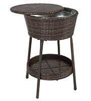 wicker ice bucket outdoor patio
