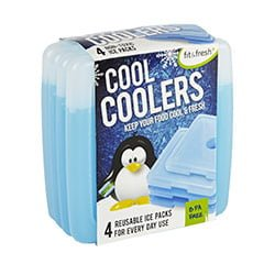 Fit Fresh Cool Coolers Slim Lunch Ice Packs