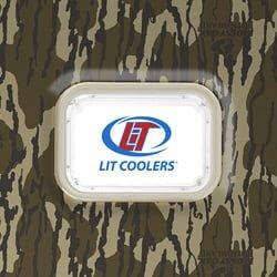 lit cooler custom Logo Plate