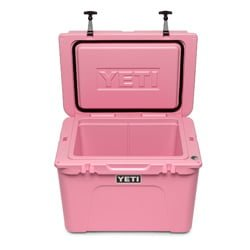 pink roto-molded cooler
