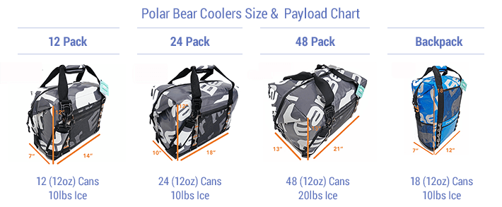 size payload polar bear coolers